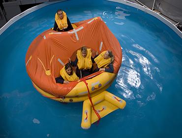 Training life raft
