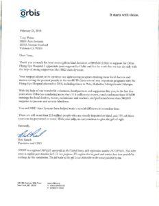 Orbis Letter