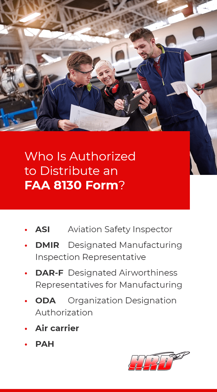Who Distributes FAA 8130 Forms?